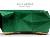 Emerald Green Diamond - The Trendy Cabinet by Boca do Lobo