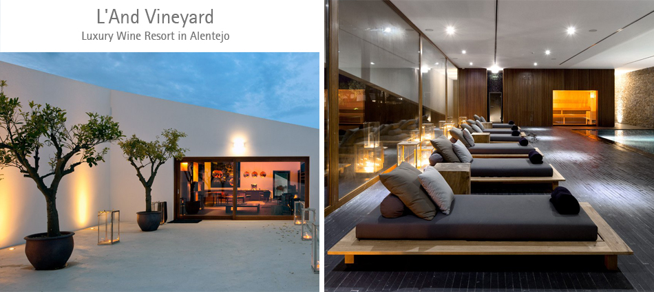 Luxury wine resort in alentejo l and vineyard luxurious for Design hotel portugal