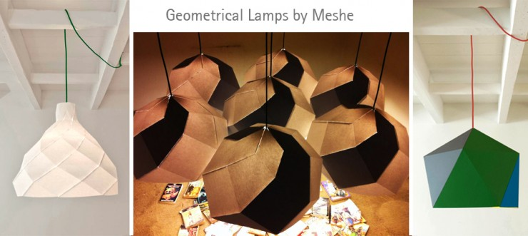 meshe 740x331 Mount your own Lamp   Geometrical Lamps By Meshe