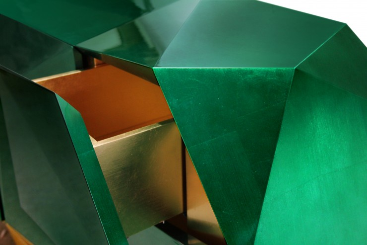 diamond emerald 04 740x493 Boca do Lobo   Exclusive Design in Milan Design Week 2013